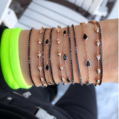 Water Drop Braided Gravel Star Bracelet Sets Wholesale Cheap Jewelry
