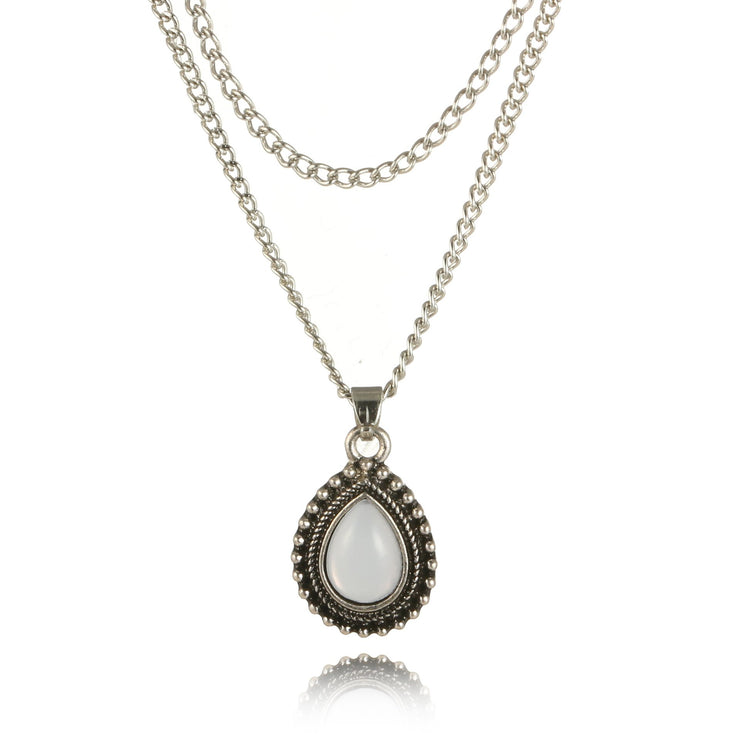 Alloy Geometric Water Drop Necklace Wholesale Cheap Jewelry