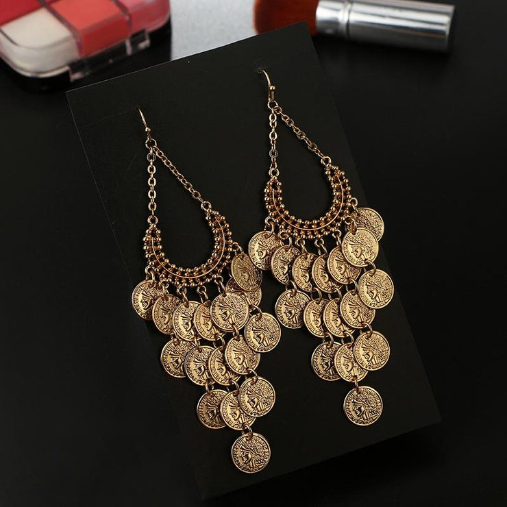 Geometric Round Long Earrings Wholesale Cheap Jewelry
