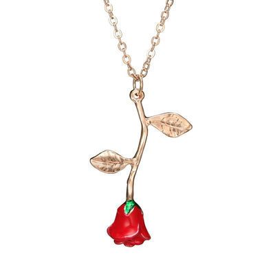 Four Color Rose Necklace Wholesale Cheap Jewelry