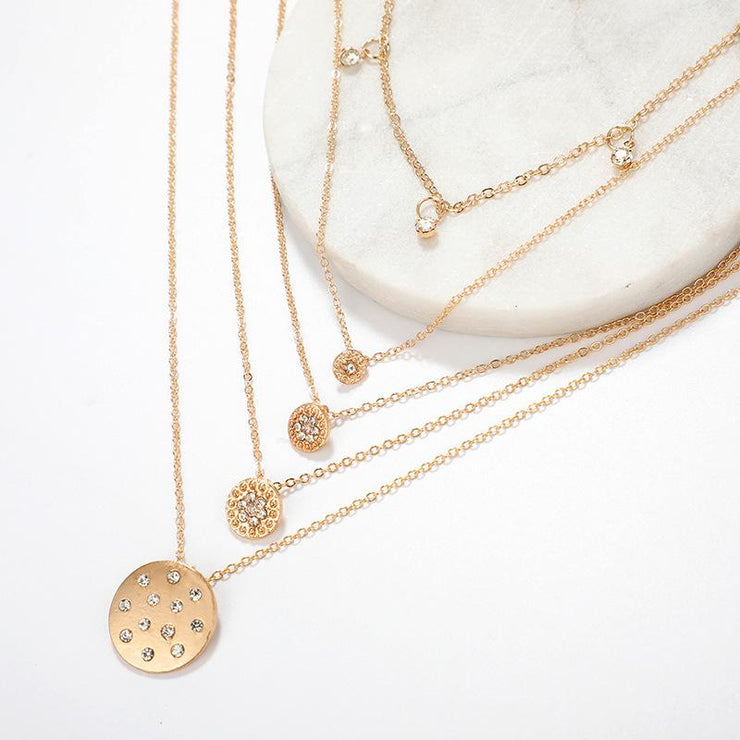 Gold Geometric Necklace Wholesale Cheap Jewelry