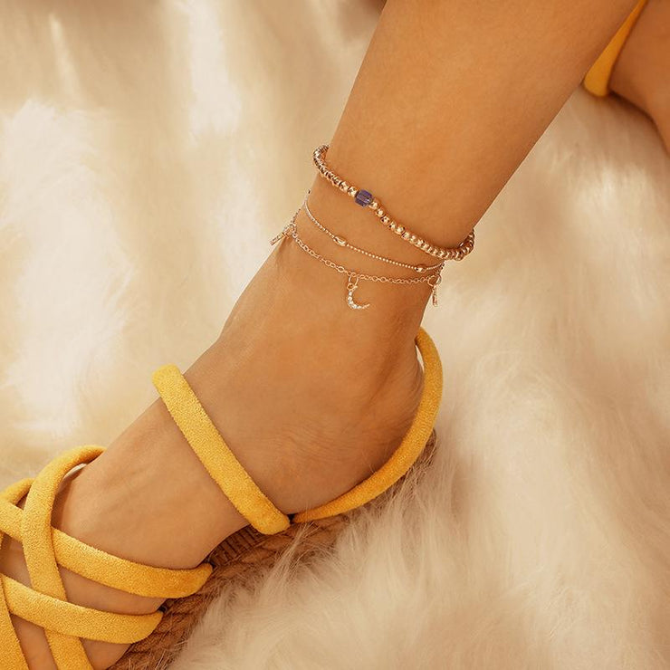 Stars Moon Anklet Wholesale Cheap Jewelry