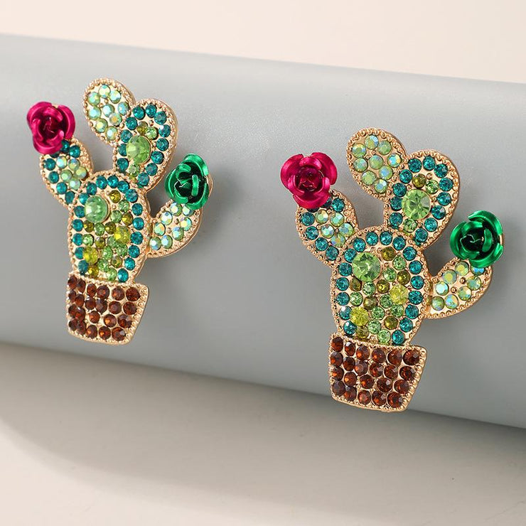 Cactus Ethnic Earrings Wholesale Cheap Jewelry