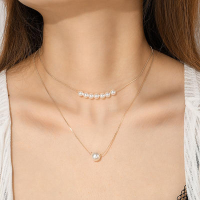 Double Pearl Necklace Wholesale Cheap Jewelry