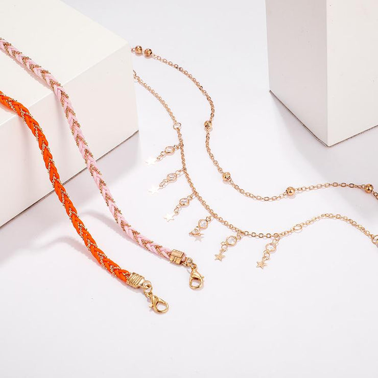 4-Piece Set Of Bohemian Geometric Anklet Wholesale Cheap Jewelry