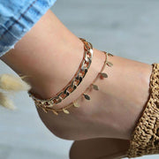 Tassel Water Drop Leaves Anklet Wholesale Cheap Jewelry