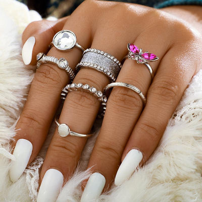 Wholesale Cheap Jewelry Retro Ethnic Butterfly Ring