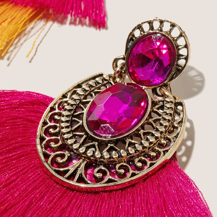Vintage Color Ethnic Earrings Wholesale Cheap Jewelry