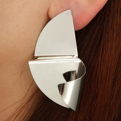 Wavy Geometric Piece Earrings Wholesale Cheap Jewelry