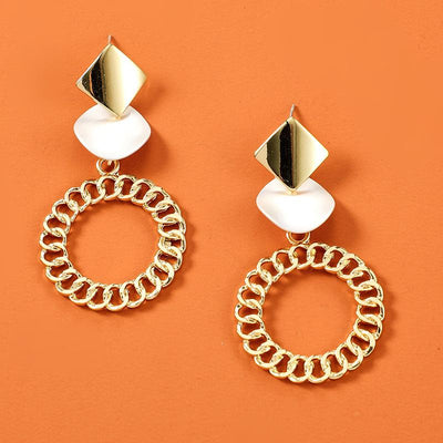 Simple Generous Metal Circle Earrings Wholesale Cheap Jewelry