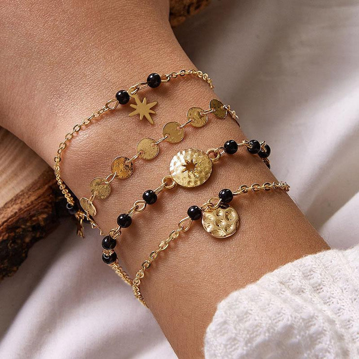 4 Piece Bohemian Astral Rice Beads Bracelet Wholesale Cheap Jewelry