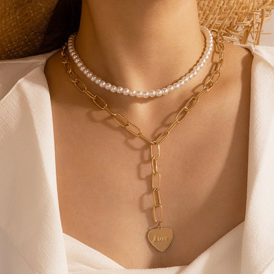 Simple Pearl Necklace Wholesale Cheap Jewelry
