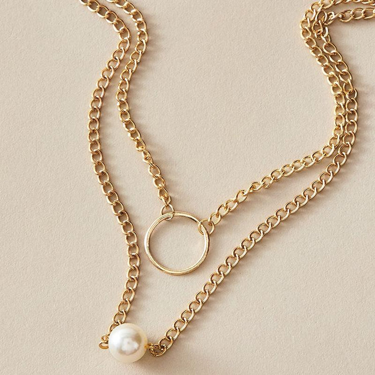 Exaggerated Punk Pearl Necklace Wholesale Cheap Jewelry