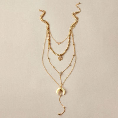 Love Crescent Multilayer Necklace Wholesale Cheap Jewelry