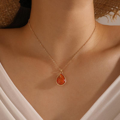 Simple Single Layer Water Drop Necklace Wholesale Cheap Jewelry