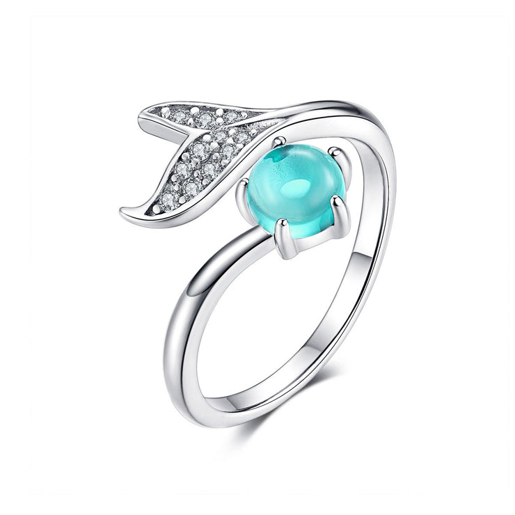 Sterling Silver Mermaid Tears Ring