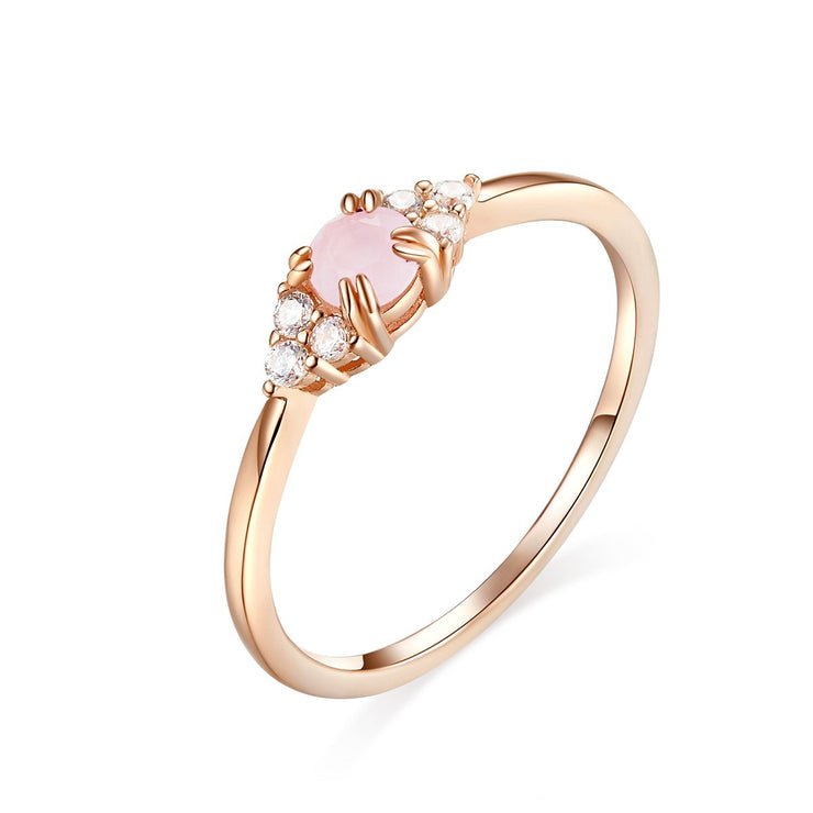 Sterling Rose Gold Engagement Ring