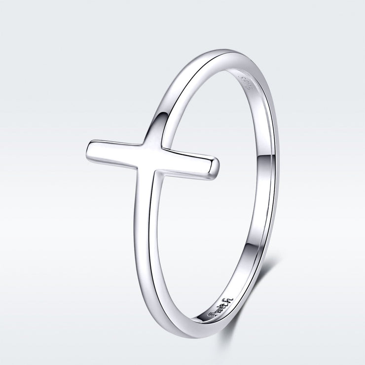 Sterling Silver Cross Simplicity Ring