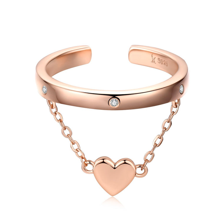 Rose Gold Plated Stone Elegant Toe Rings