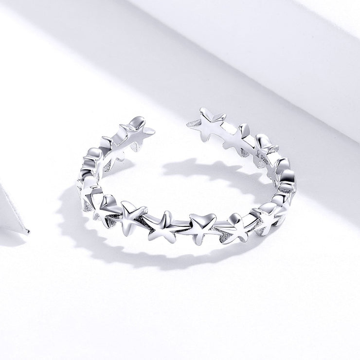 Plain Sterling Silver Starfish Ring