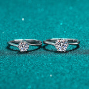 Sterling Silver Halo Cubic Zirconia Rings