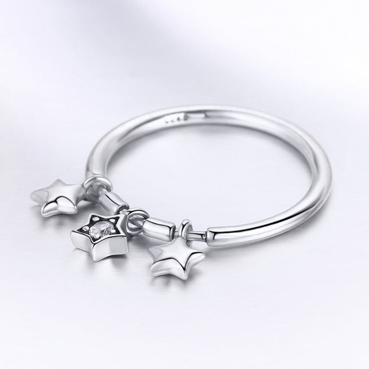 Sterling Silver Starry Sky Ring