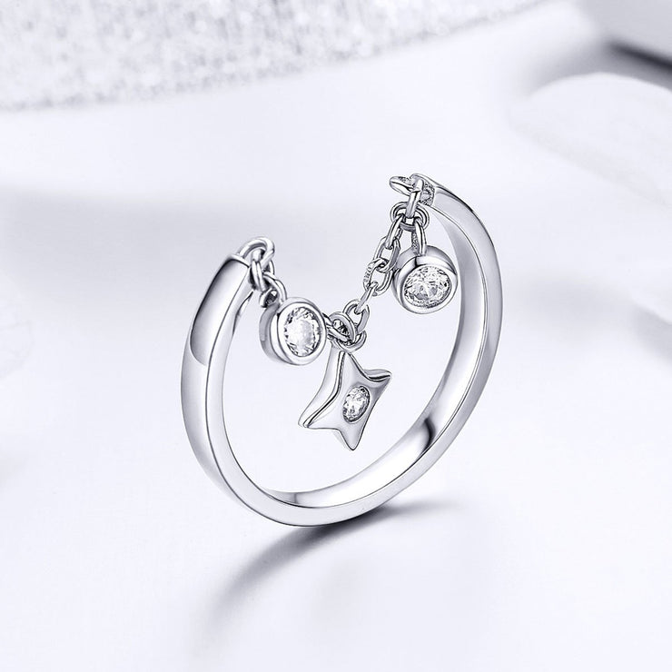 Sterling Silver Naughty Cat Ring