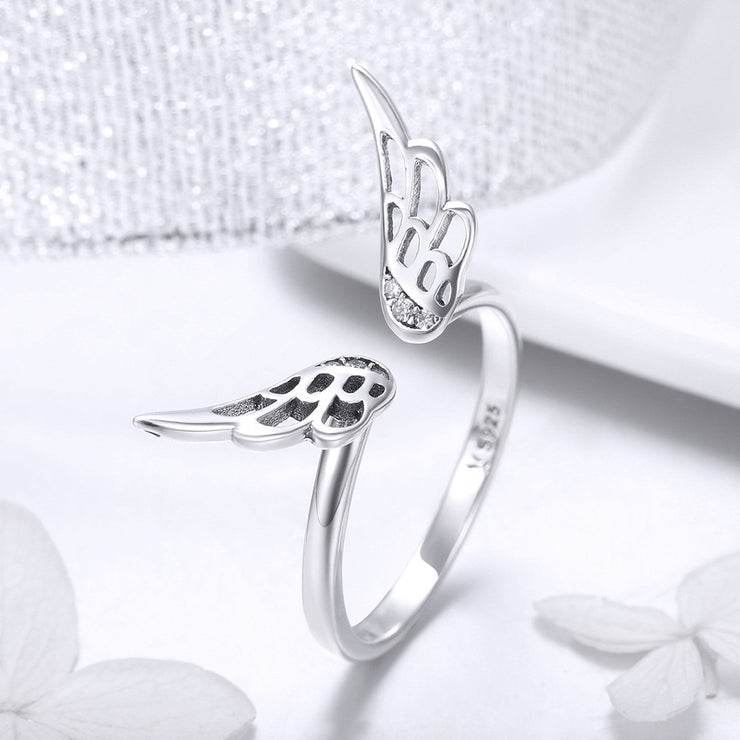 Sterling Silver Fairy Wing Ring