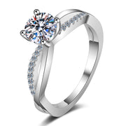 Sterling Silver Irregular CZ Ring