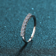Sterling Silver Arrangement CZ Ring