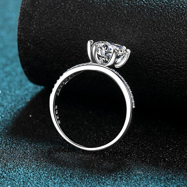 Sterling Silver Crown Cubic Zirconia Ring