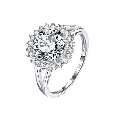 Sterling Silver Clear CZ Classy Ring