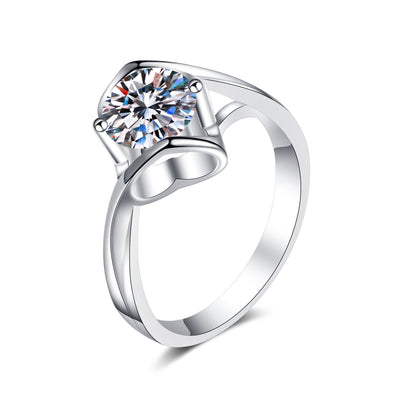 Sterling Silver Cubic Zirconia Heart Rings