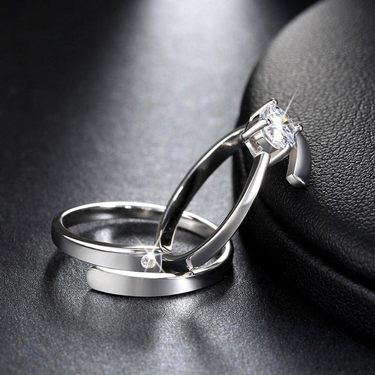 Women Fashion Jewelry 925 Sterling Silver Diamond Decoration Toe Rings