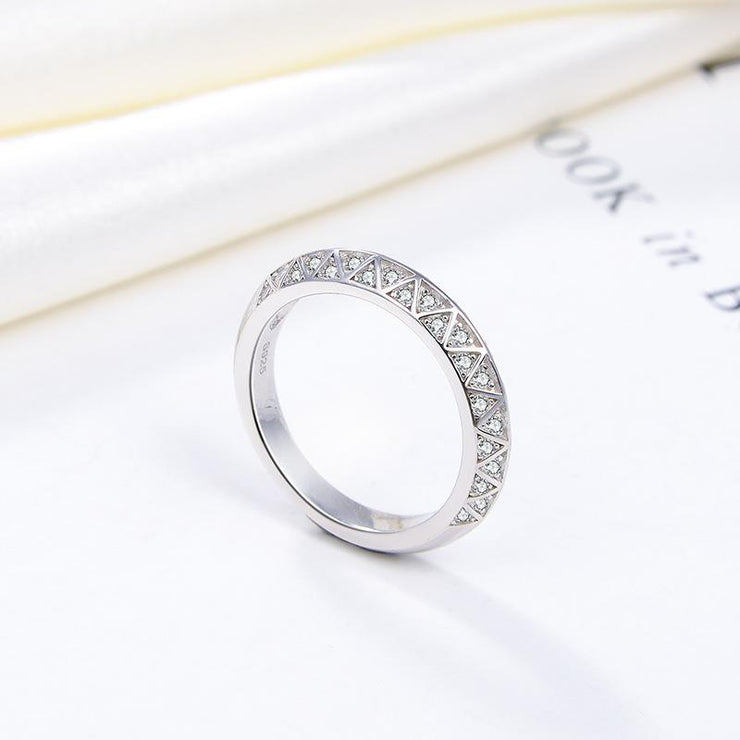 Women Fashion Jewelry 925 Sterling Silver Micro Diamond CZ Rings
