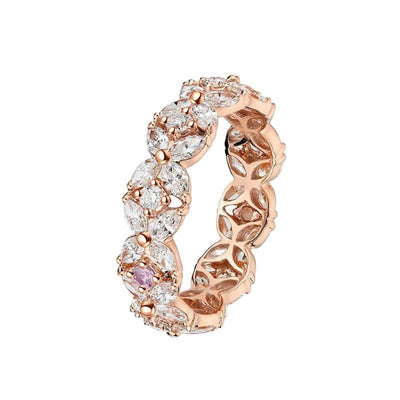925 Sterling Silver Eternity Round CZ Ring