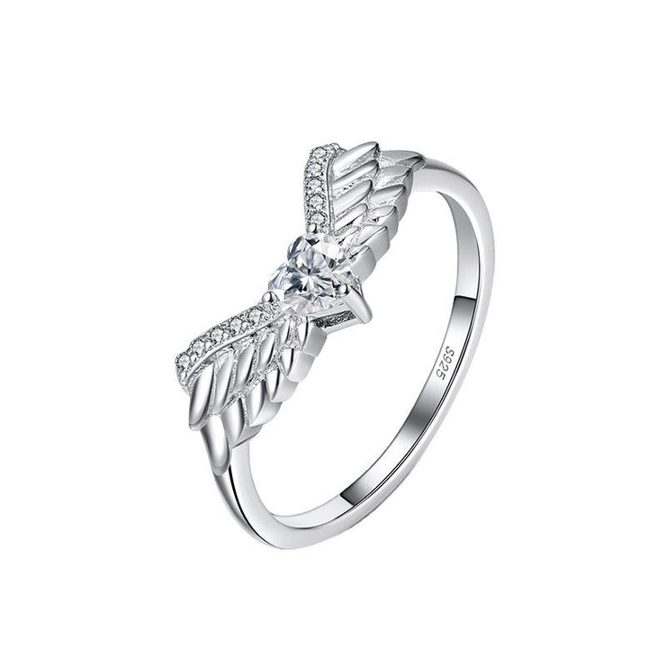 925 Sterling Silver Wing CZ Ring