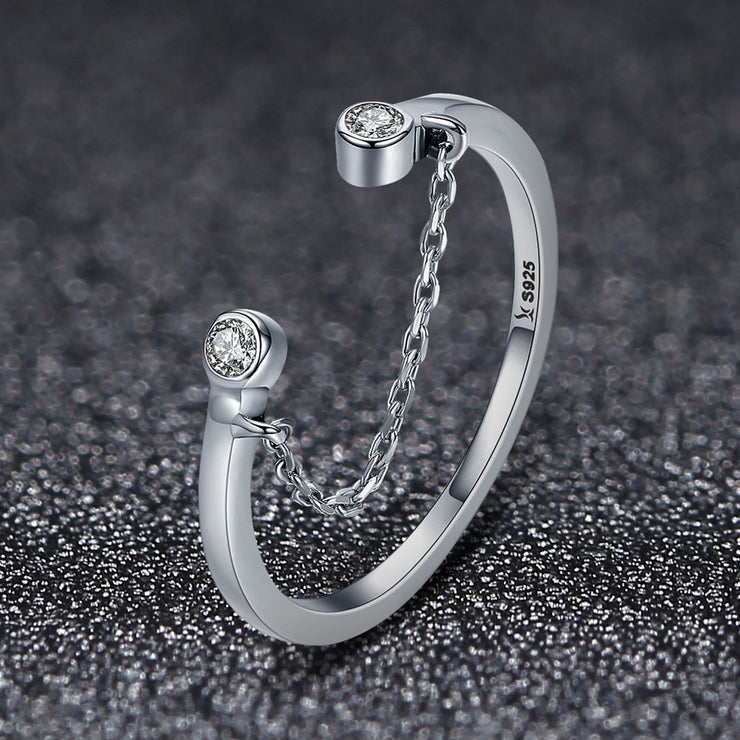 Women Cute Trendy Rhodium Plated Plain Sterling Silver Rings