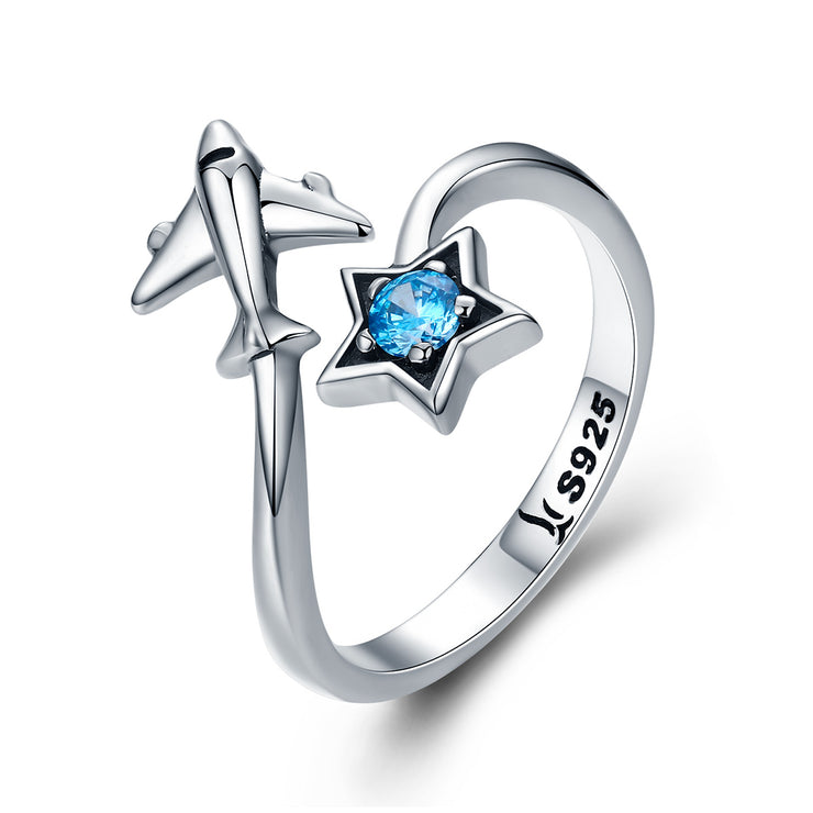 Women Rhodium Plated Plain High Polish Sterling Silver Gemstone Rings 925 Sterling Silver Rings