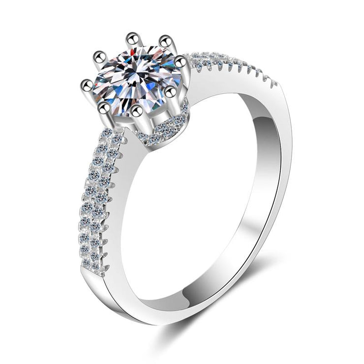 WOMEN FASHION JEWELRY 925 STERLING SILVER CZ RINGS