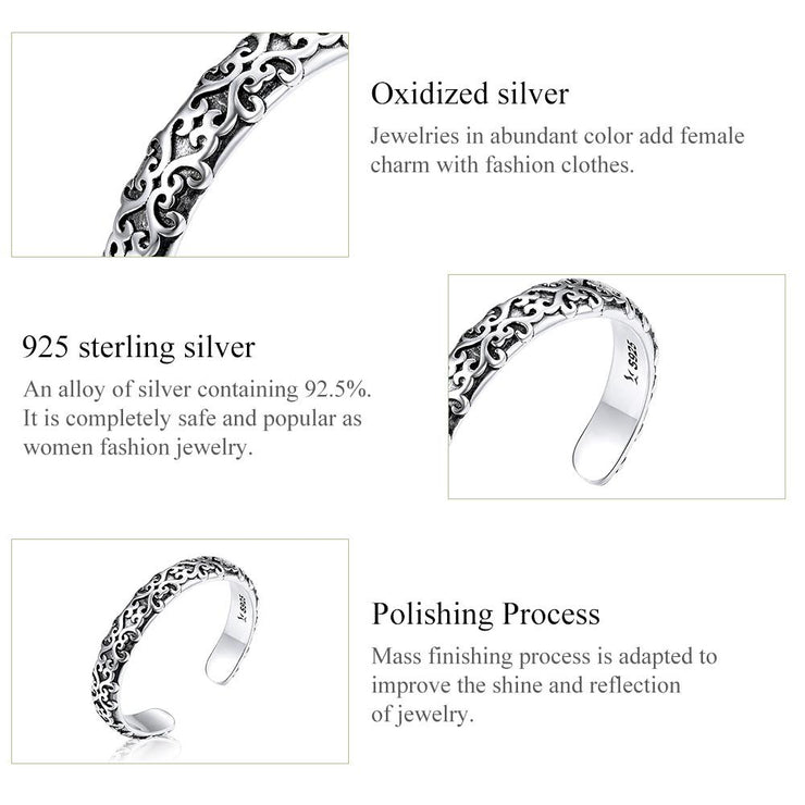 Women Fashion Jewelry 925 Simple Silver Rings