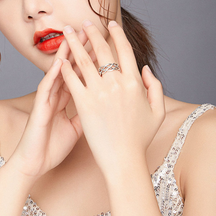 Women Fashion Jewelry 925 Hollow Shape Silver Rings