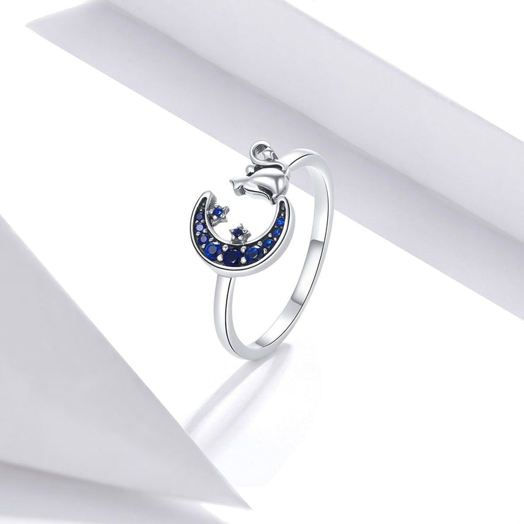 Women Fashion Jewelry 925 Moon Gemstone Silver Rings
