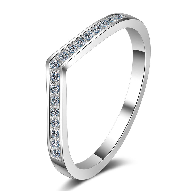 Women Fashion Jewelry 925 Sterling Silver Cubic Zirconia Rings