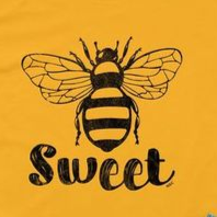 Women Short Sleeve Loose Letter Printed T-shirt - BEE SWEET T-SHIRT