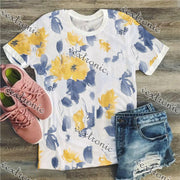 Women Short Sleeve Loose Printed T-shirt