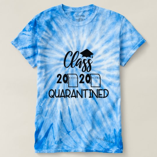 Unisex Cyclone Tie-Dye T-Shirt-Class Quarantined 2020 Black