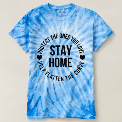 Unisex Cyclone Tie-Dye T-Shirt-Stay Home Black
