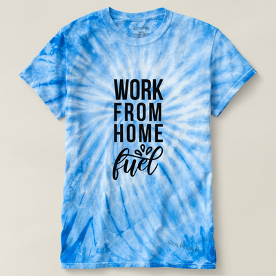 Unisex Cyclone Tie-Dye T-Shirt-Work From Home Fuel Black