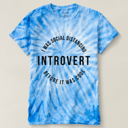 Unisex Cyclone Tie-Dye T-Shirt-Introvert Black